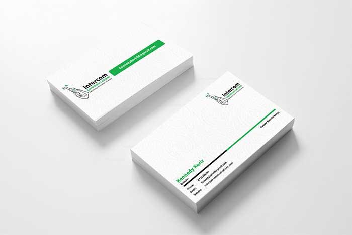 Intercomm business card design