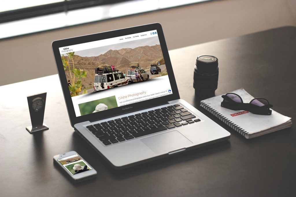 gilshe web design portfolio display