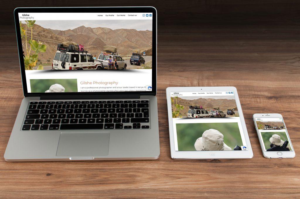 gilshe website design portfolio display
