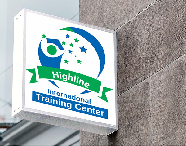 highline training center logo and graphic design display