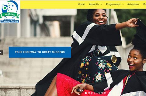highline training center website design thumbnail