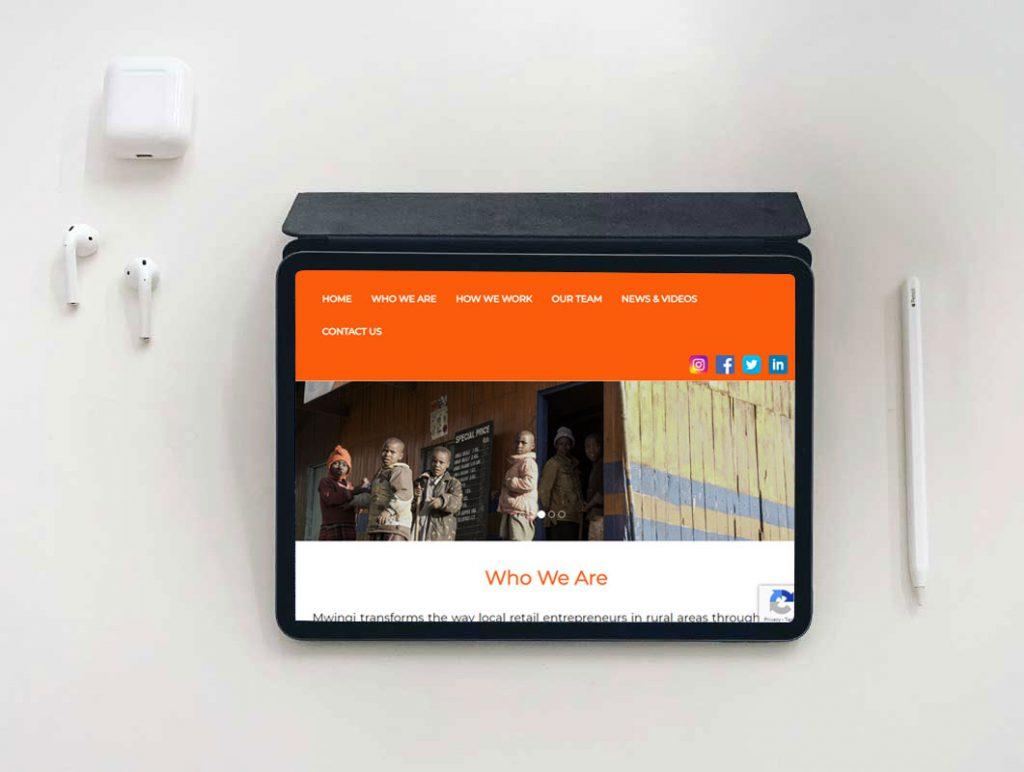 mwingi website design portfolio display