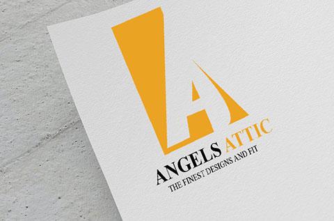 angels attic logo design