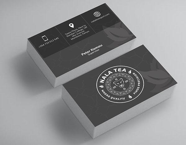 nala tea Business Card