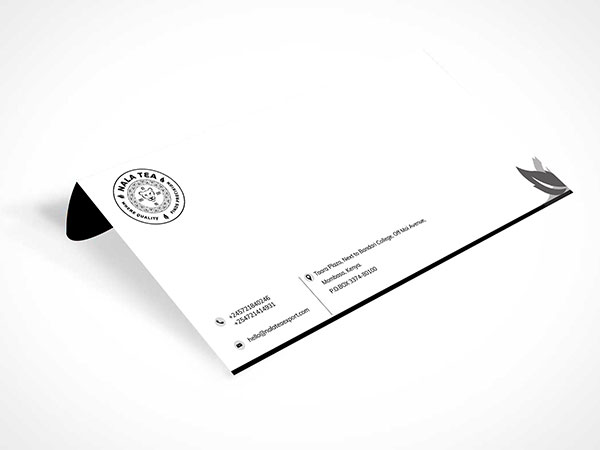 nala tea Envelope design